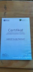 Certifikat za nastavnicu Mirzetu Butković